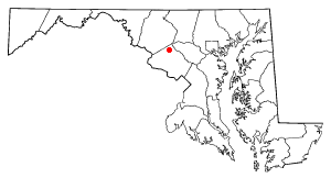 Location of Damascus, Maryland