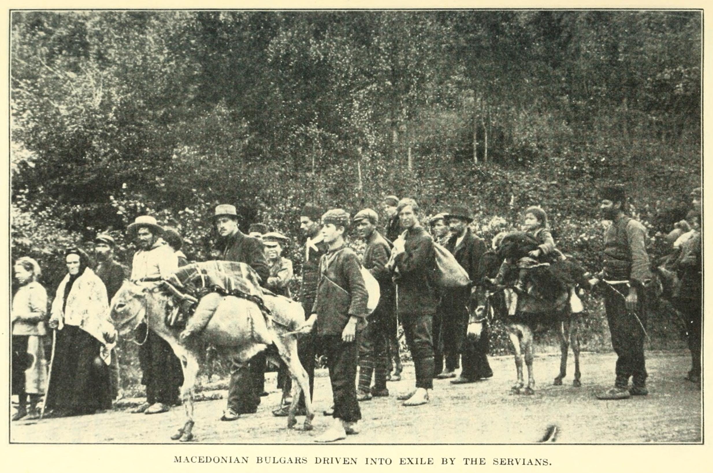 Bulgarische Flüchtlingе aus Makedonien (1914)