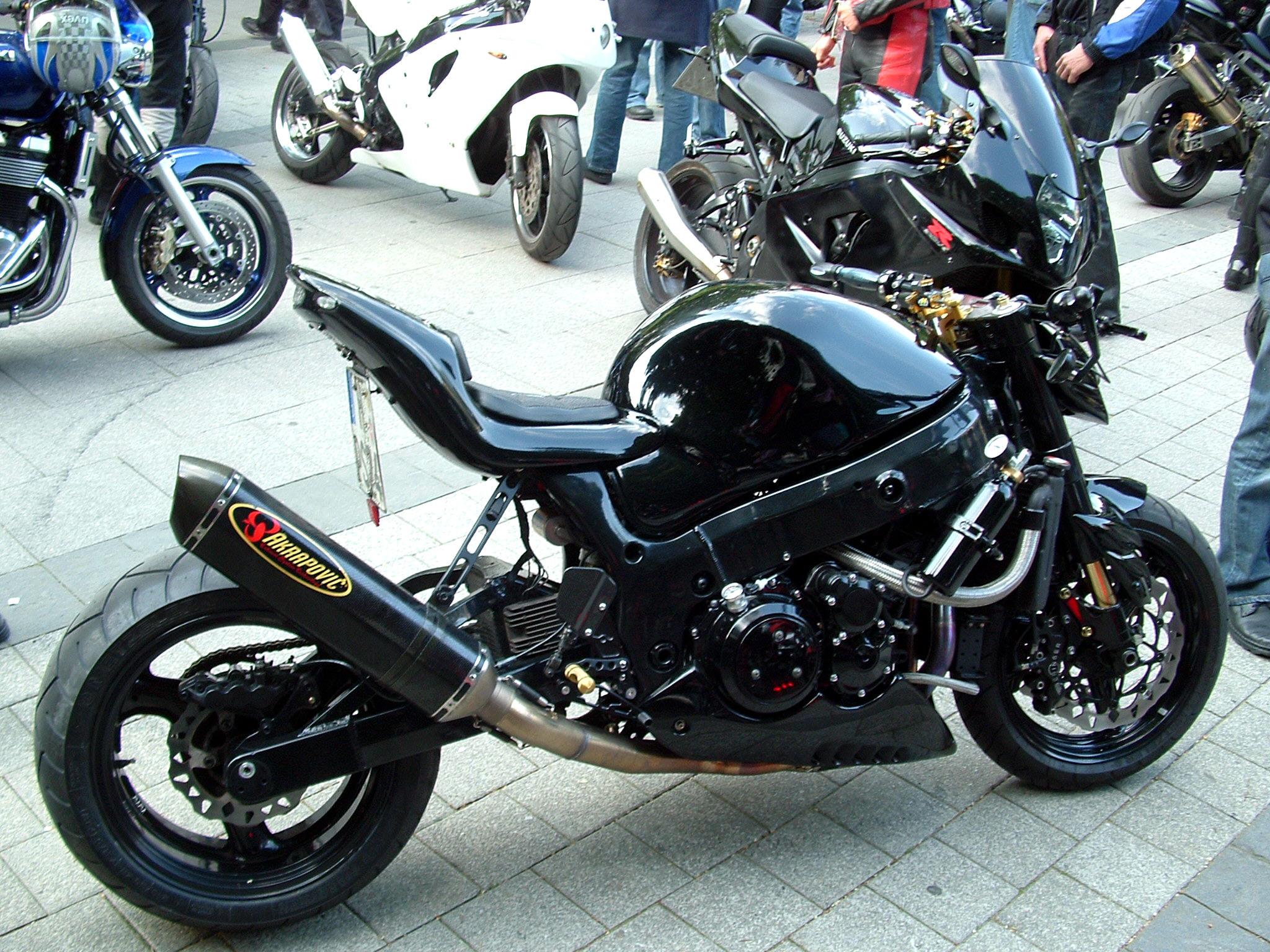 File Motorrad Hannover Custom Bike With Akrapovic Can Jpg