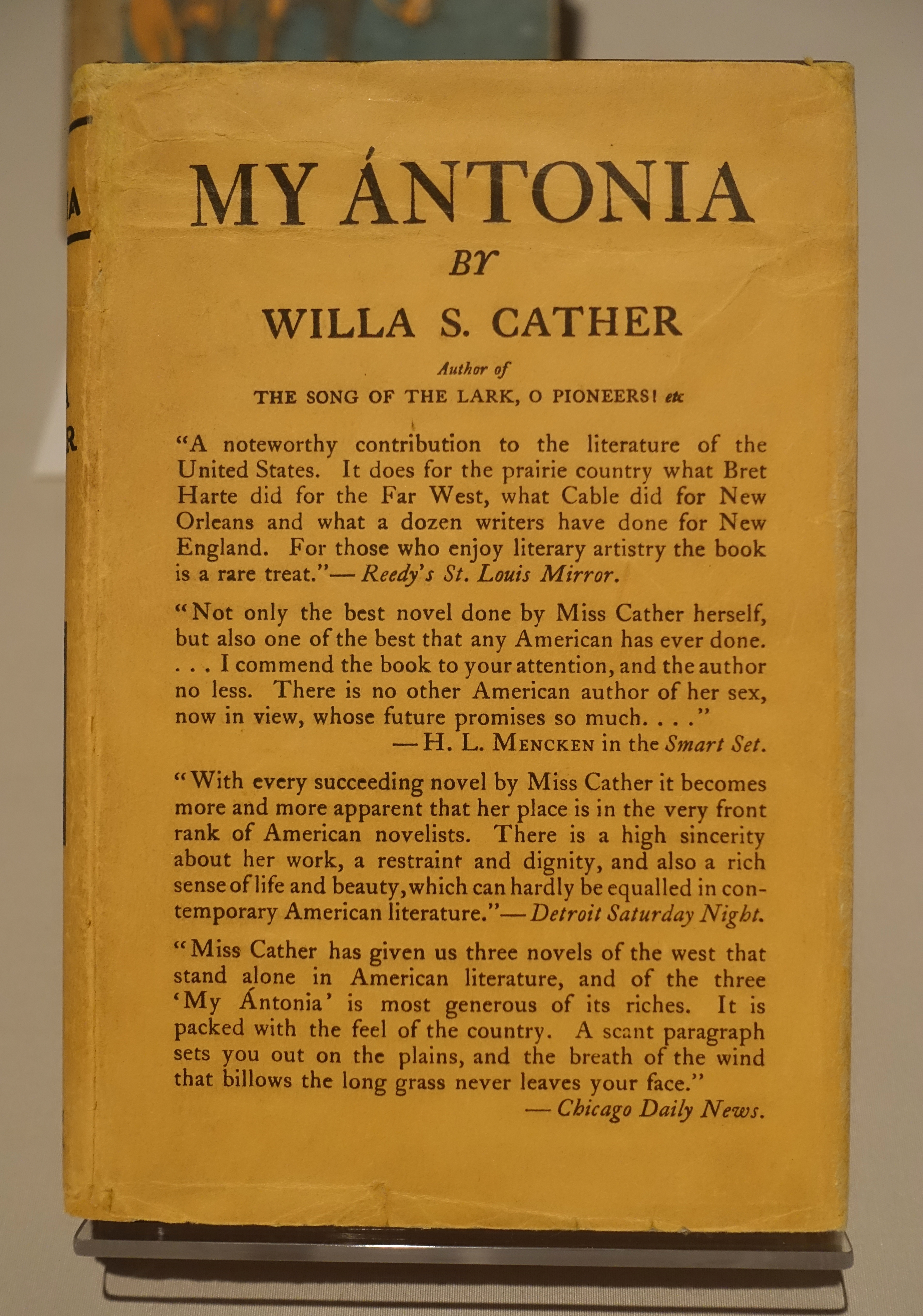Winter reads: My Ántonia by Willa Cather