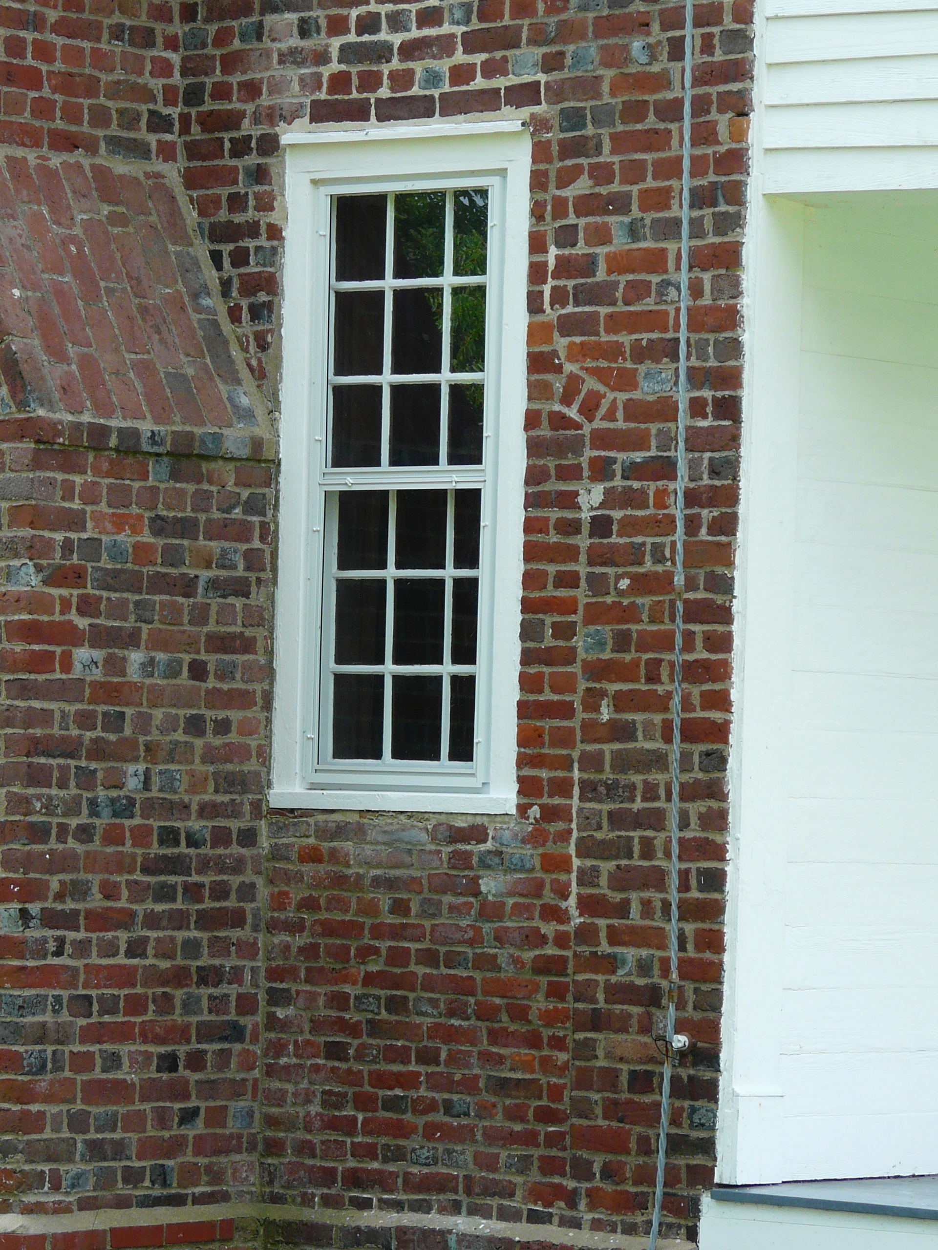 File myers white house close up of front east side window for House front side window design