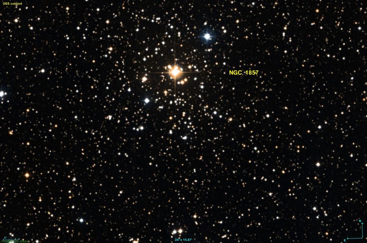 L'amas ouvert NGC 1857
