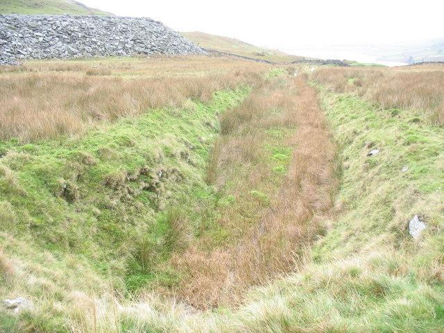 Old drainage channel at Gorseddau Quarry - geograph.org.uk - 268018.jpg