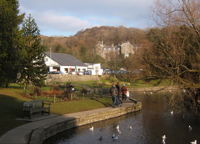 Ornamental lake at Grange-over-Sands - geograph.org.uk - 1098743