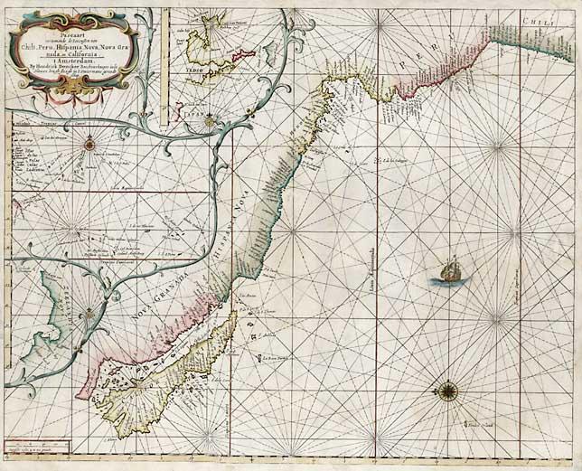 File:Pascaart vertoonened de zeecusten van Chili Peru Hispania Nova Nova Granada.jpg