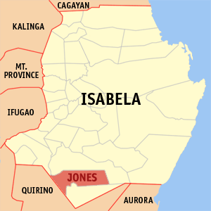 Map of Isabela showing the location of Jones