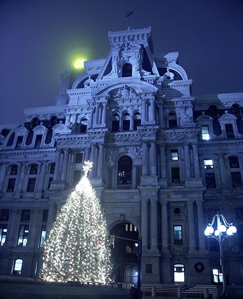 File:Philadelphia City Hall At Night.jpg