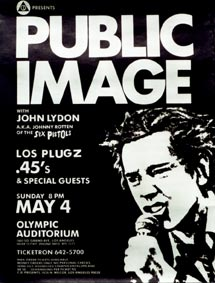 A PiL promotional poster, 1980.