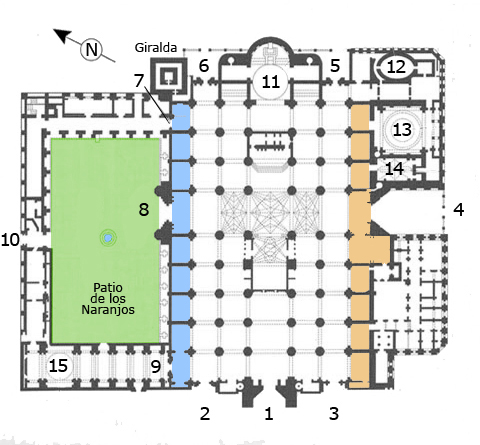 Plan de la cathédrale de Séville - Image de MarisaLR