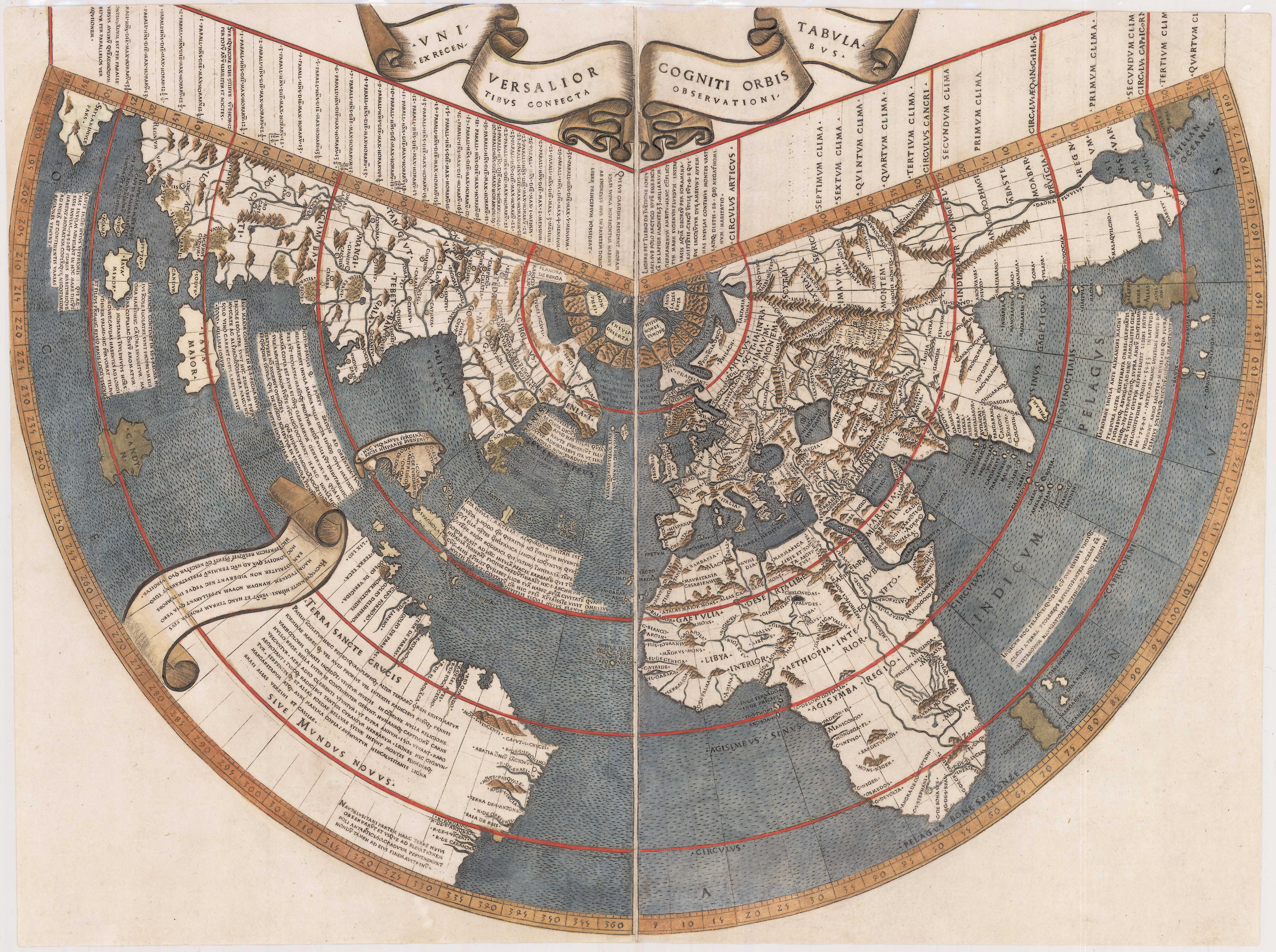 Ruysch World Map Cartography An Overview Timeline