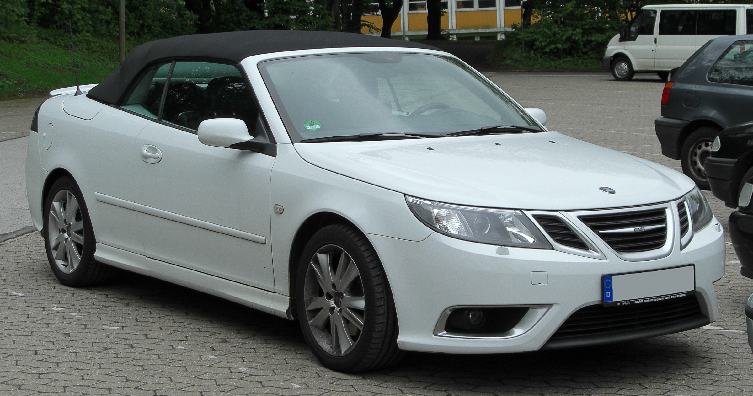 file saab 9 3 cabrio aero ii facelift front wikimedia commons. Black Bedroom Furniture Sets. Home Design Ideas