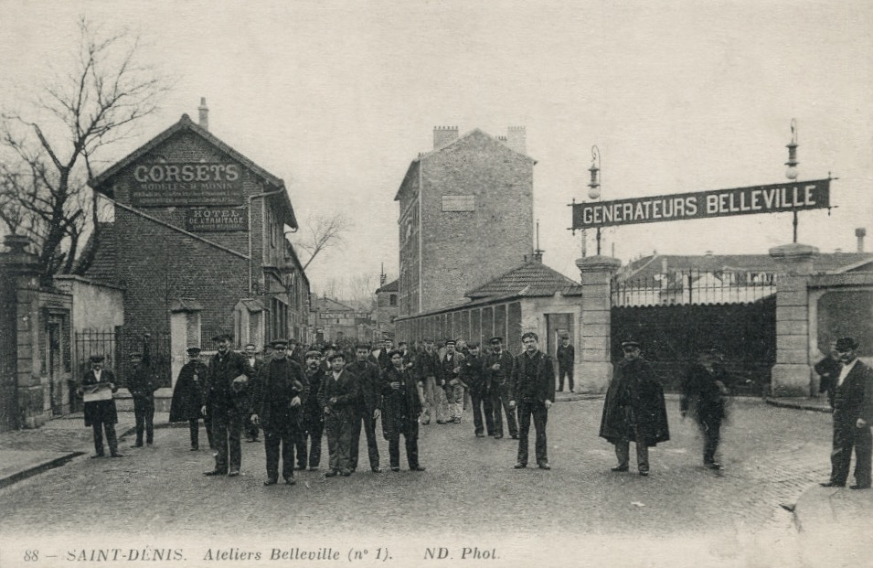 File:Saint-Denis, ateliers Belleville, carte postale ancienne.jpg - Wikimedia Commons
