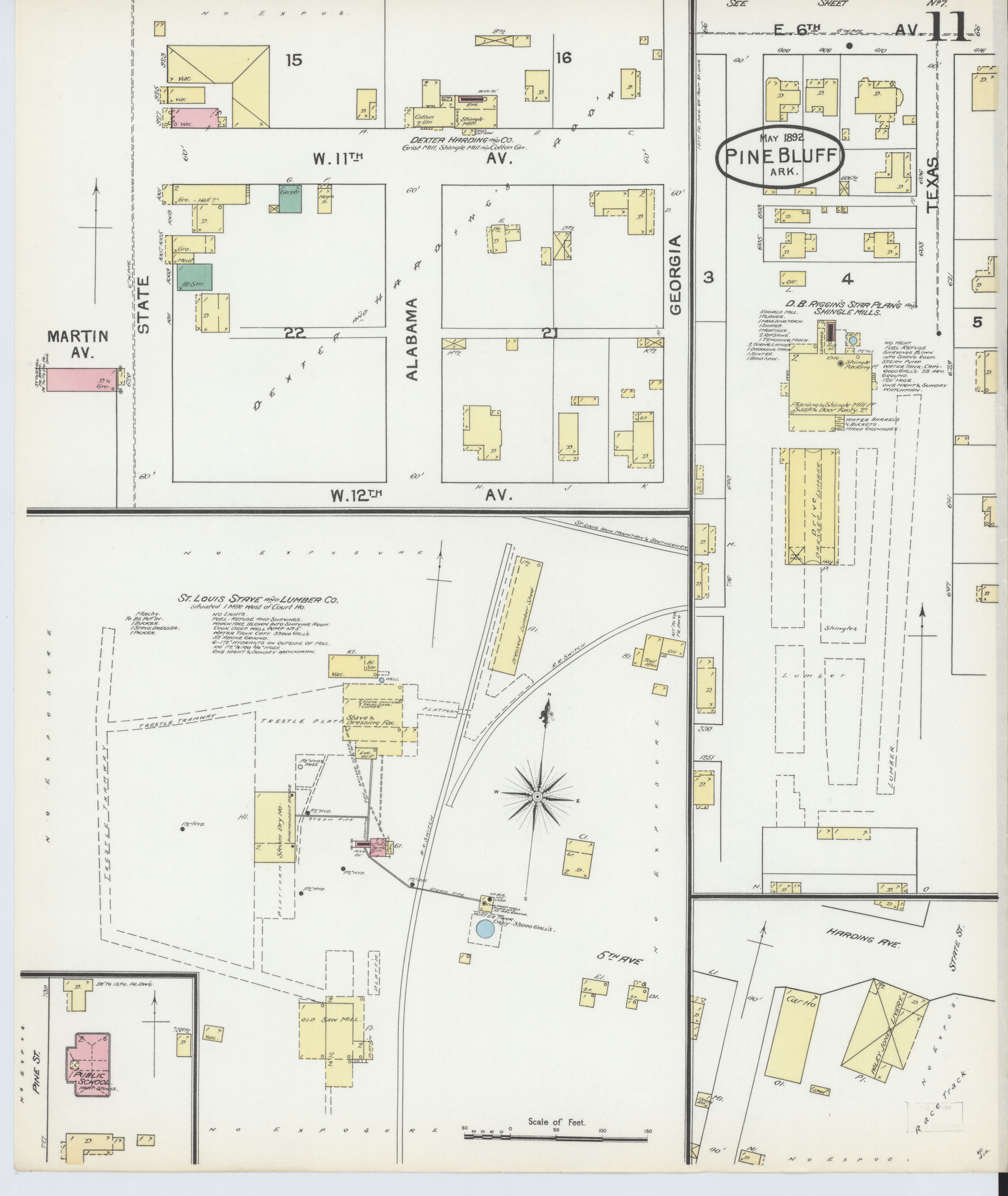 File Sanborn Fire Insurance Map From Pine Bluff Jefferson County