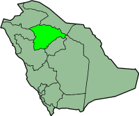 Map of Ả Rập Saudi with Haʾil highlighted