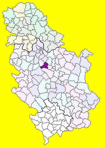 topola srbija mapa Topola (općina) – Wikipedija topola srbija mapa