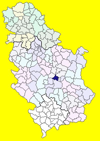 varvarin srbija mapa Opština Varvarin   Wikipedia varvarin srbija mapa