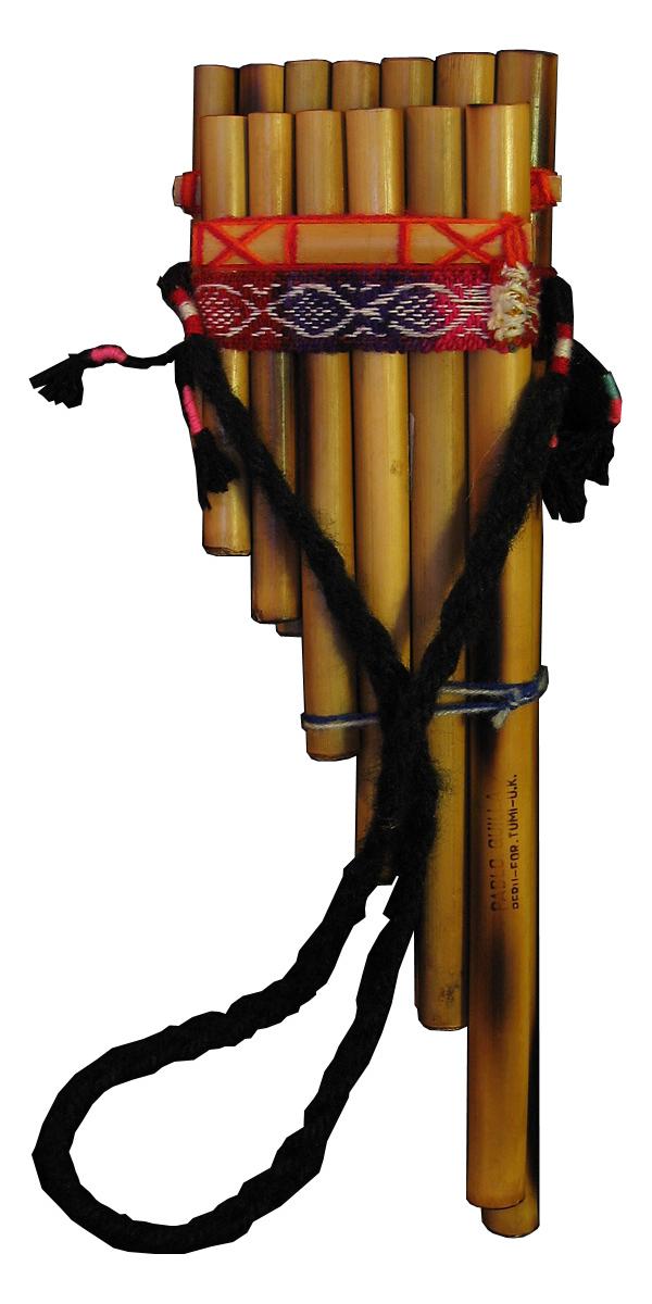 Una zampoña, un instrumento de viento tradicional andino.