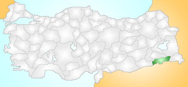 Resim:Sirnak Turkey Provinces locator.jpg