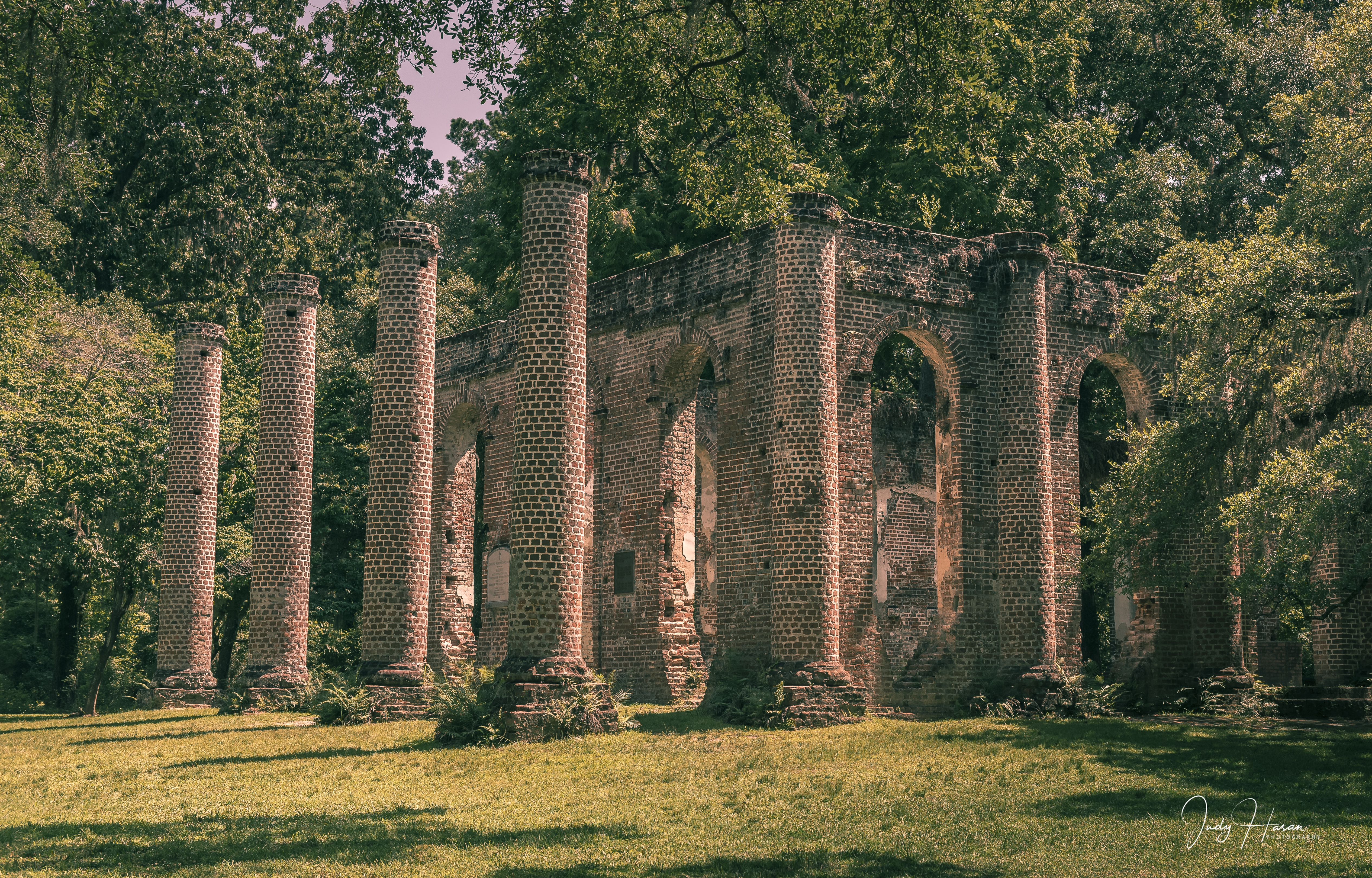 Columns of the Old Sheldon Church -Sheldon Church Ruins, Beaufort, SC