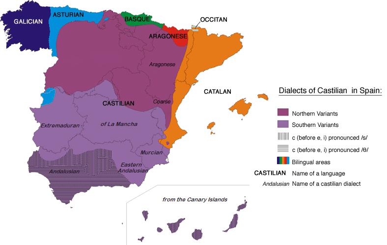 Cartina Muta Spagna Con Regioni.Dialetti Spagnoli Wikipedia