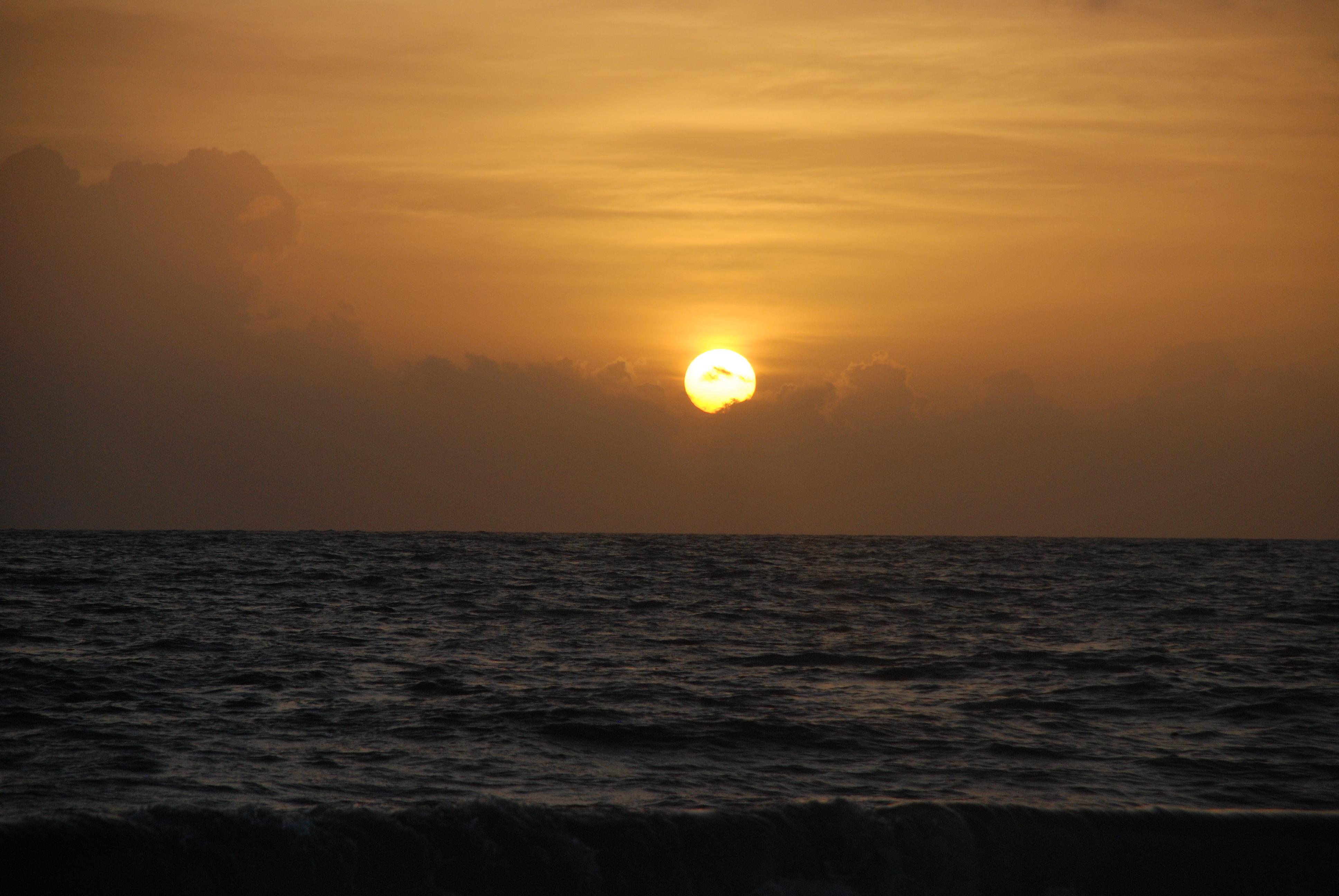 Sunset in Marari Beach