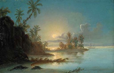 Sunset in the Orinoco by Ferdinand Bellermann (1814-1889)