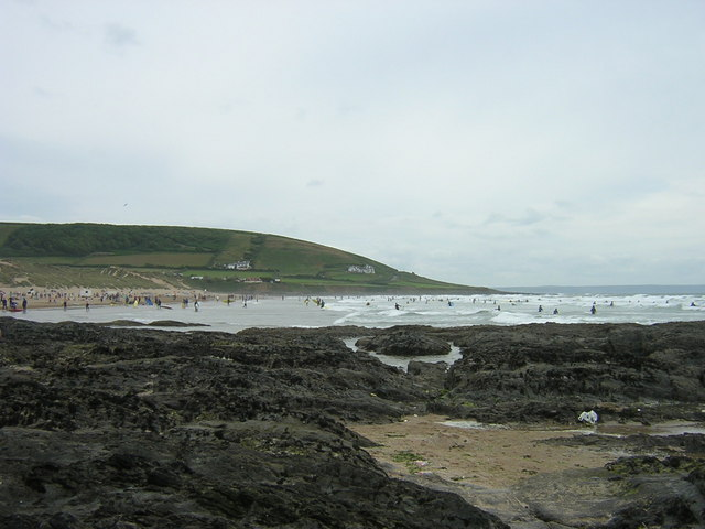 Surfers at Croyde Bay - geograph.org.uk - 355415
