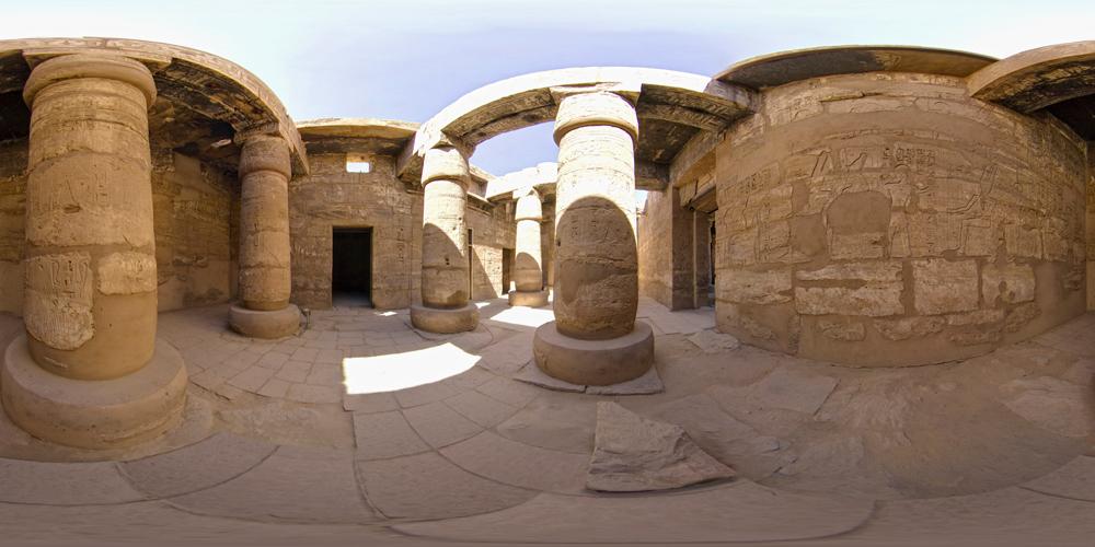 Photographie à 360° du Temple de Karnak