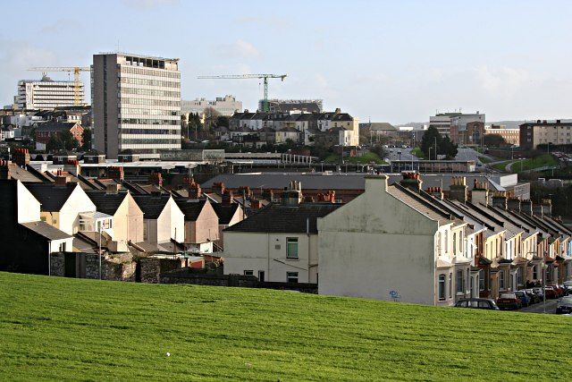 An image of the Pennycomequick area in Plymouth.