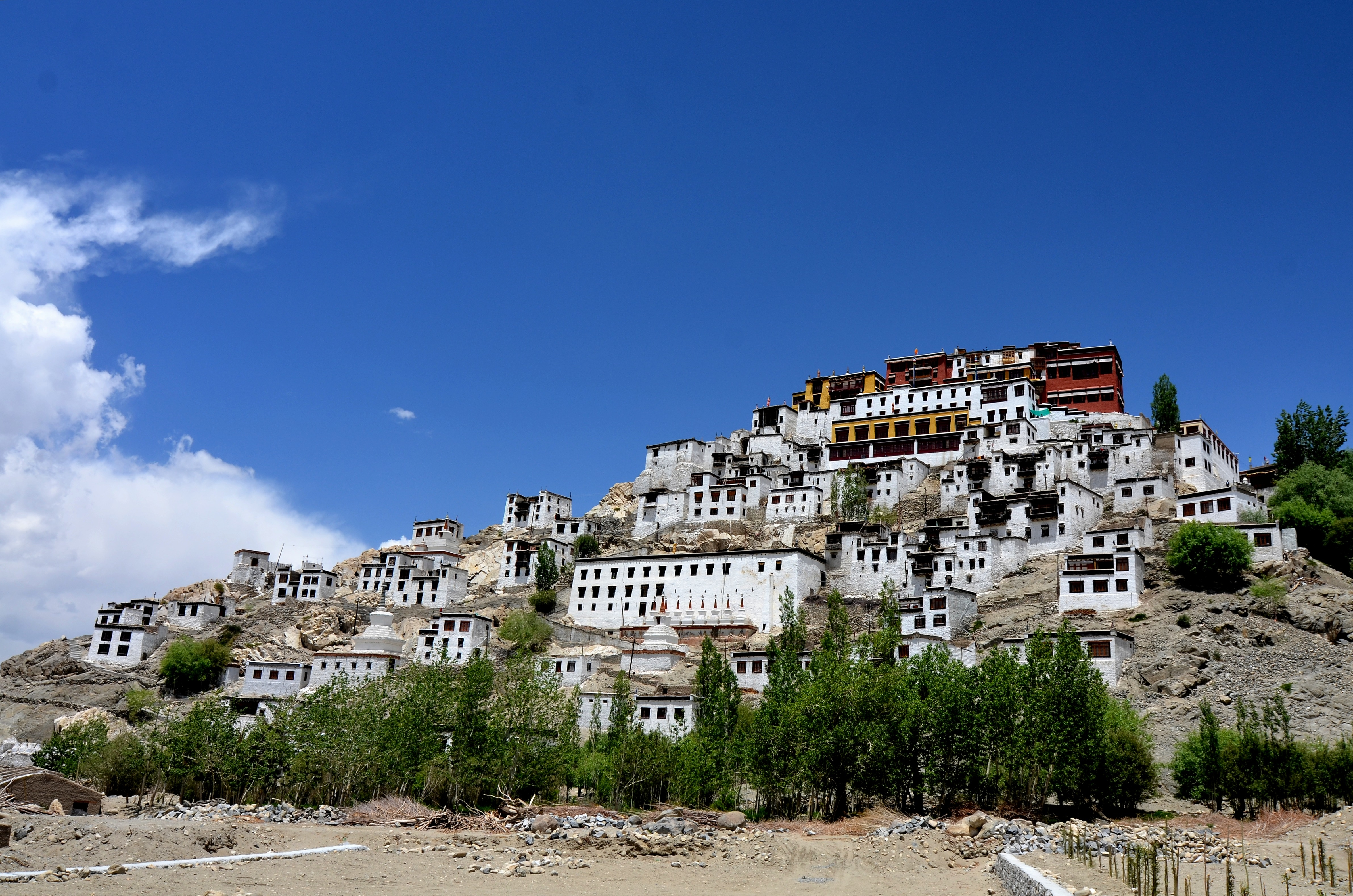 Leh India  City pictures : Thikse Monastery,Leh ,J&K ,India Wikimedia Commons