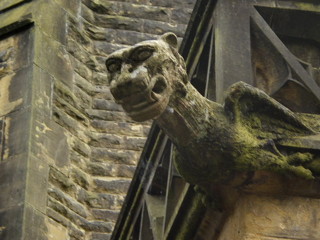 Gargoyle on Todmorden Unitarian Church
