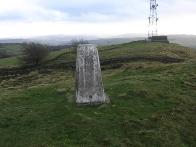 Trig point S4148 at the edge of Eyam Moor - geograph.org.uk - 1607005
