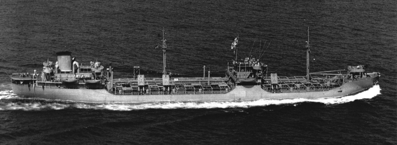 """T2 Tanker """"Hat Creek"""" in 1943."""
