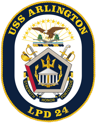 أمريكا: أرسلنا القوة الضاربة إلى الخليج بسبب تحضيرات إيران لمهاجمة عسكريينا - صفحة 2 USS_Arlington_%28LPD-24%29_crest