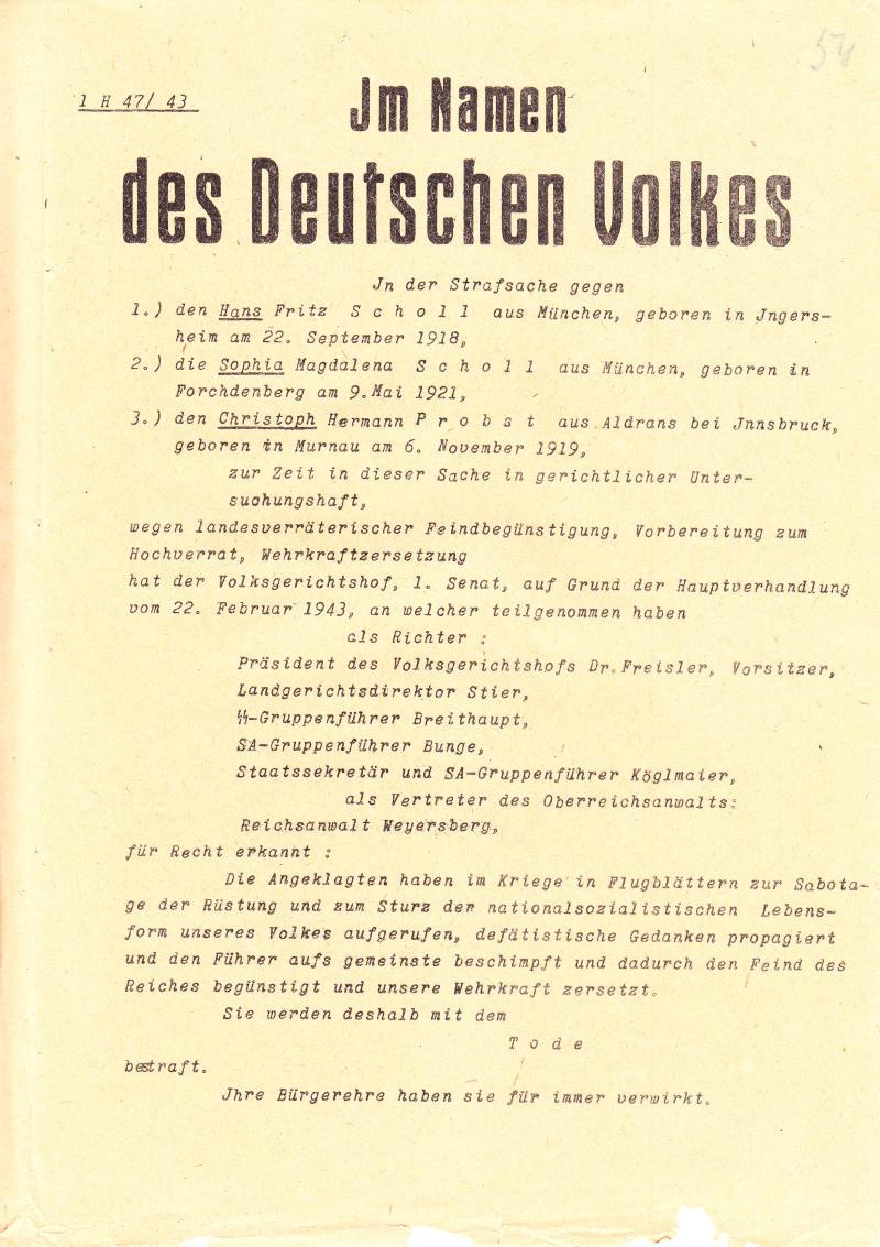 Briefe Von Sophie Scholl : Sophie scholl steckbrief promi geburtstage