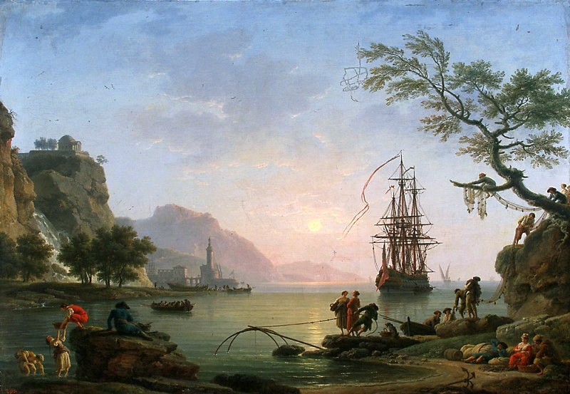 View of a Port in the Morning