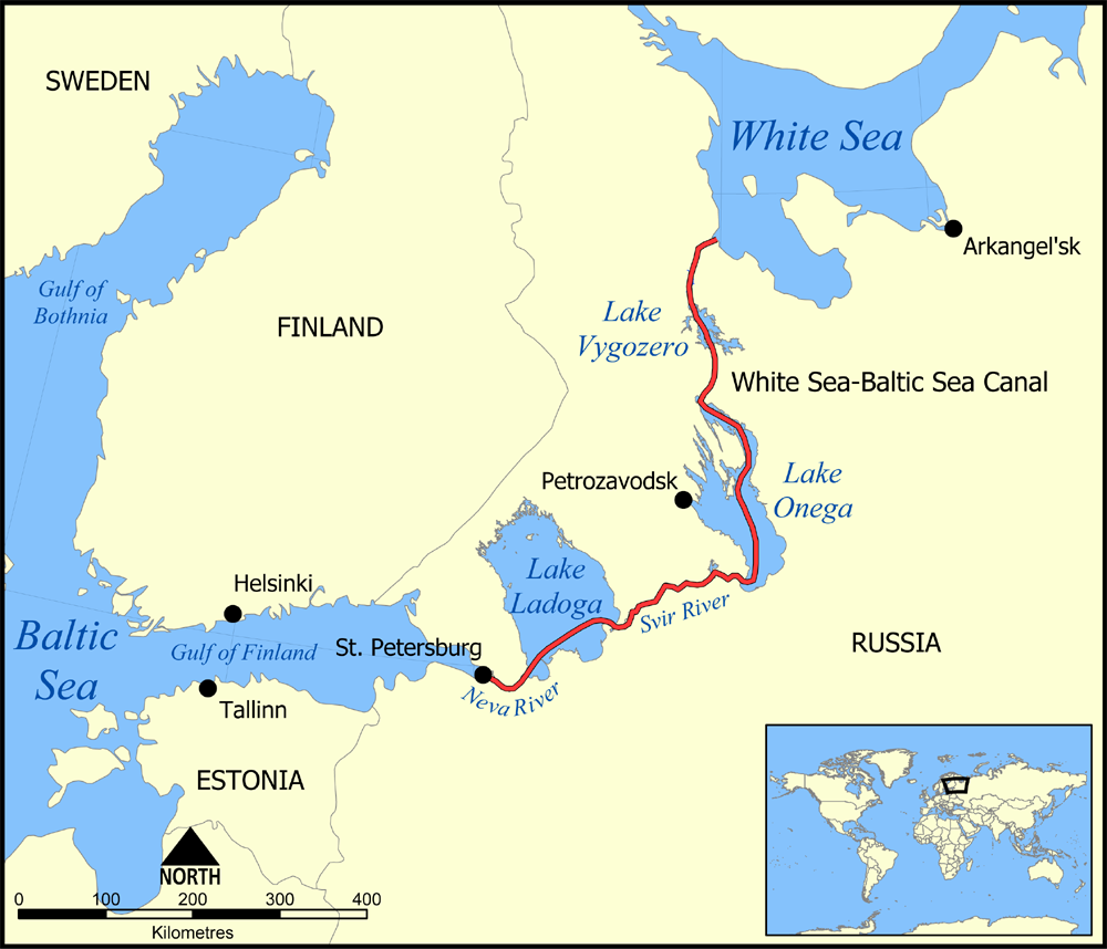 It is actually possible to travel from the Baltic Sea to ...