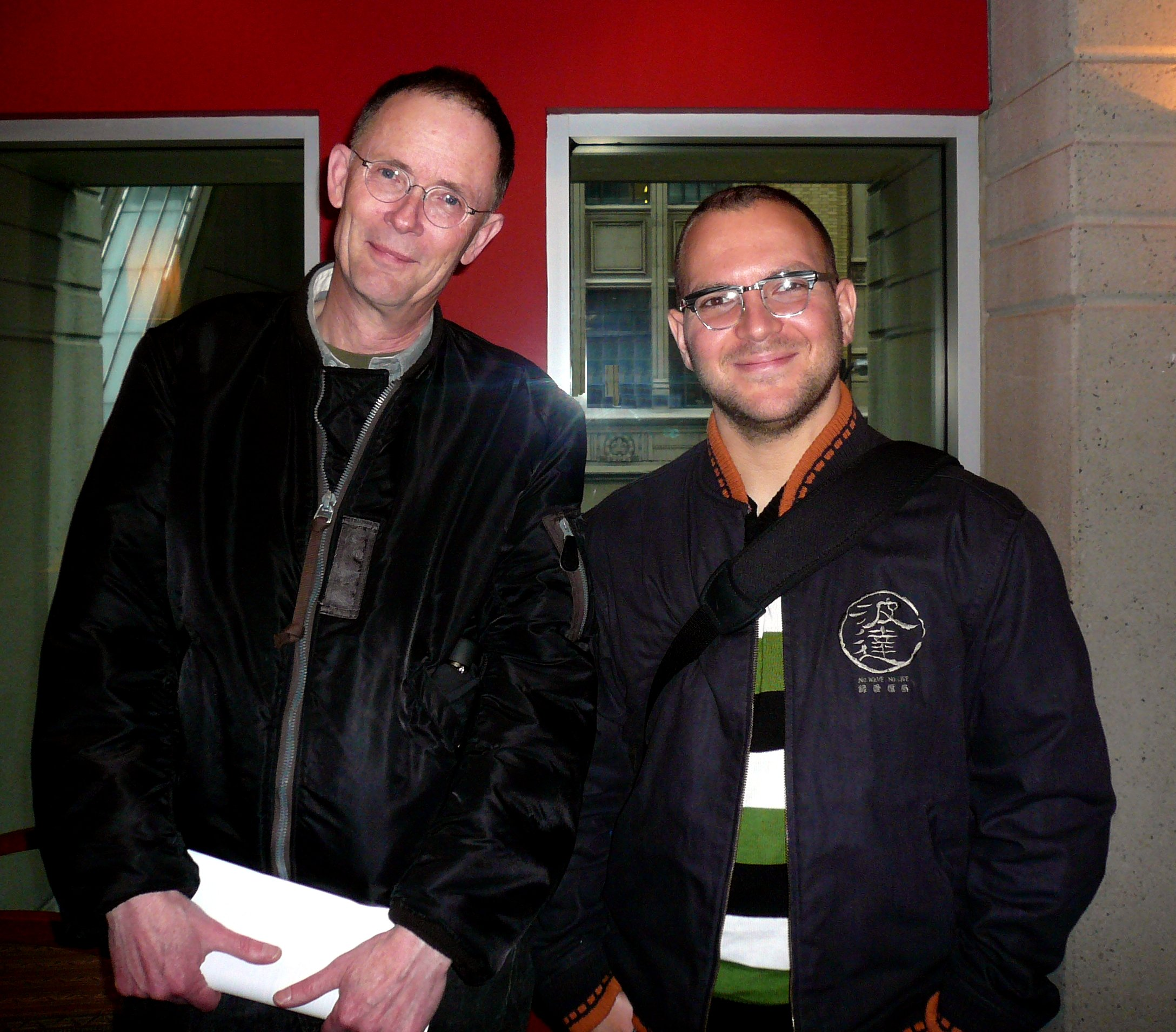 Photo of Cory Doctorow & his friend  William Gibson