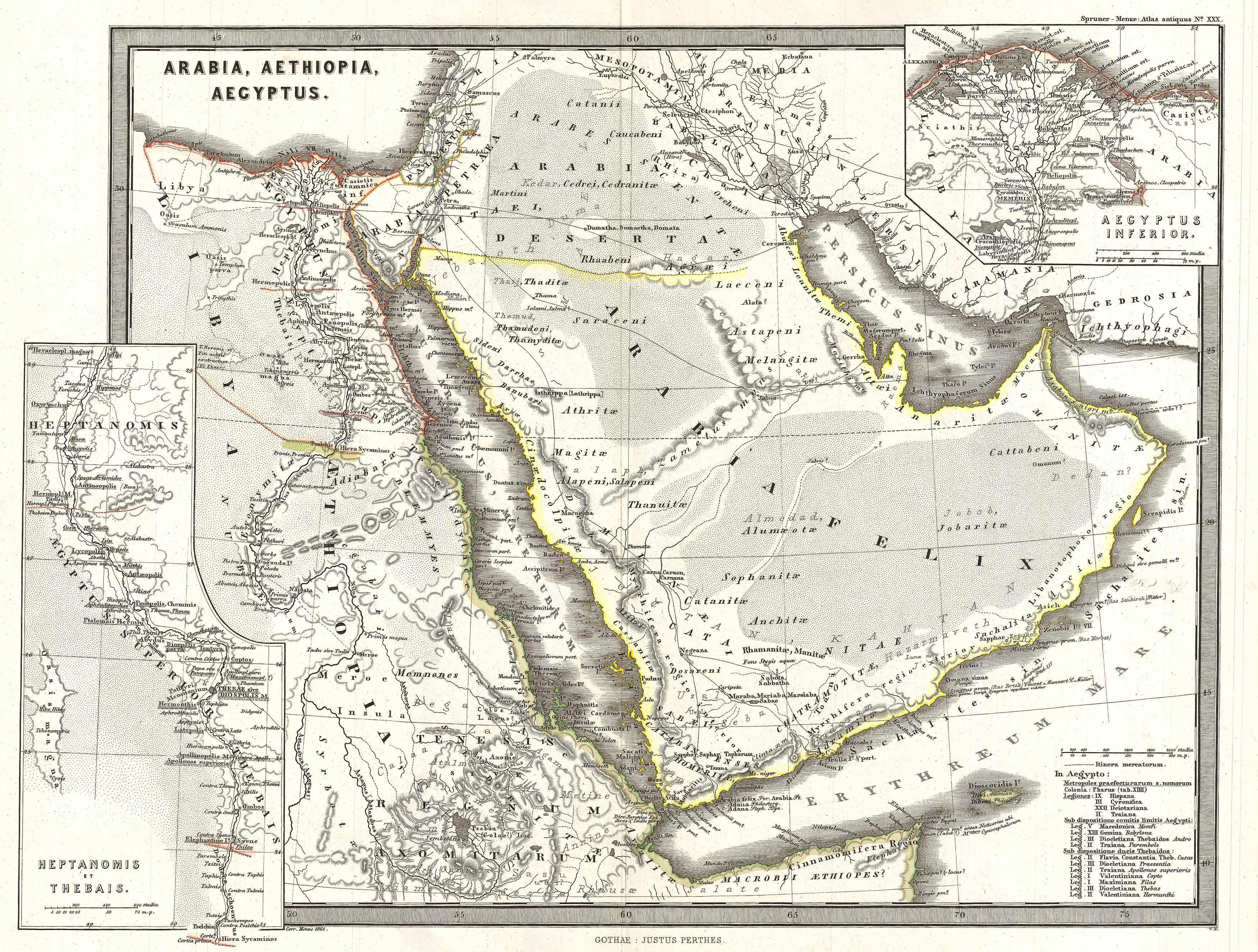 Vintage Maps of the Arabian Peninsula