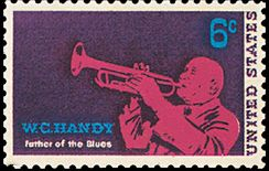 English: US stamp honoring WC Handy