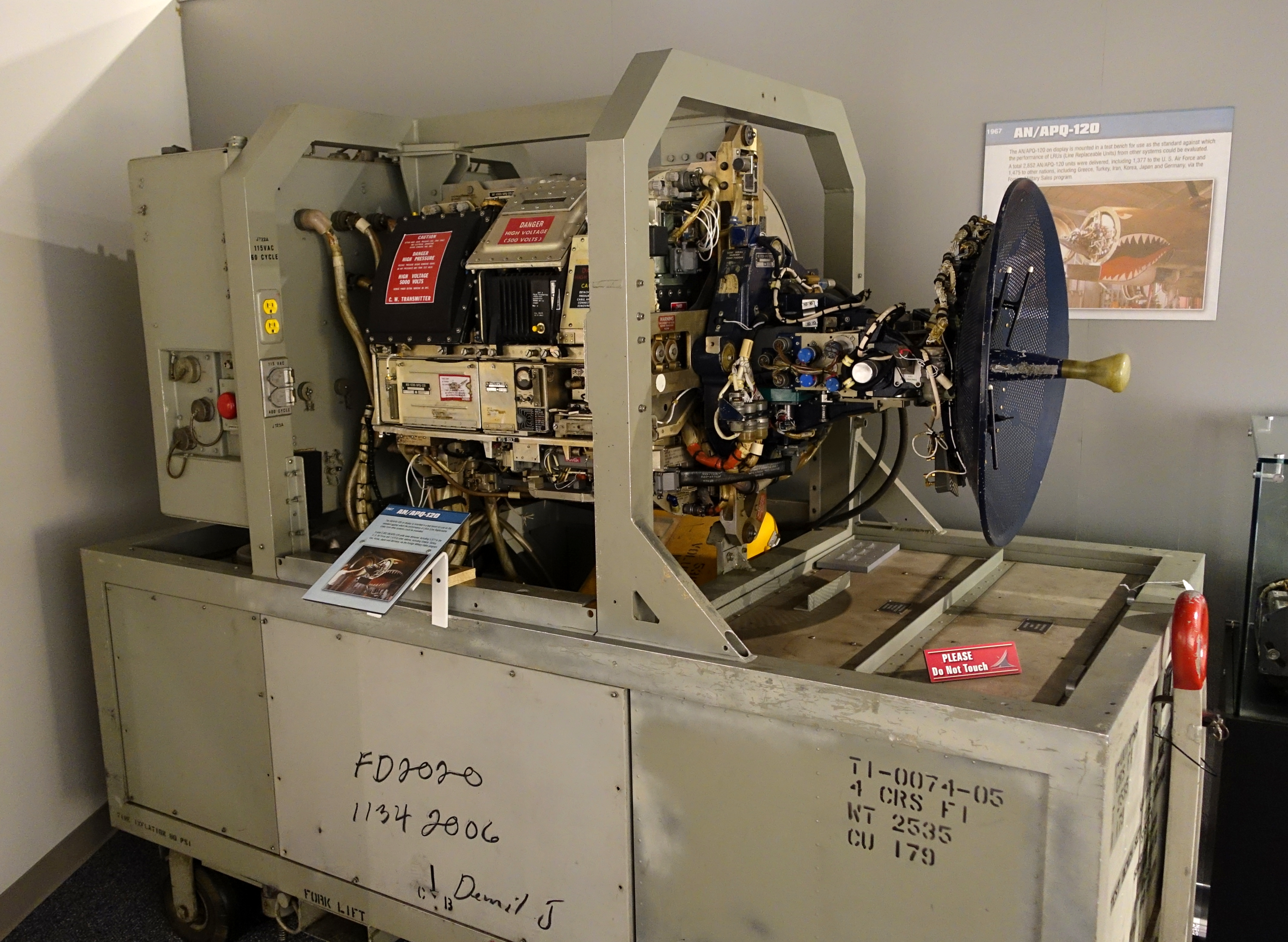 File An Apq 120 In Test Bench 1967 National Electronics