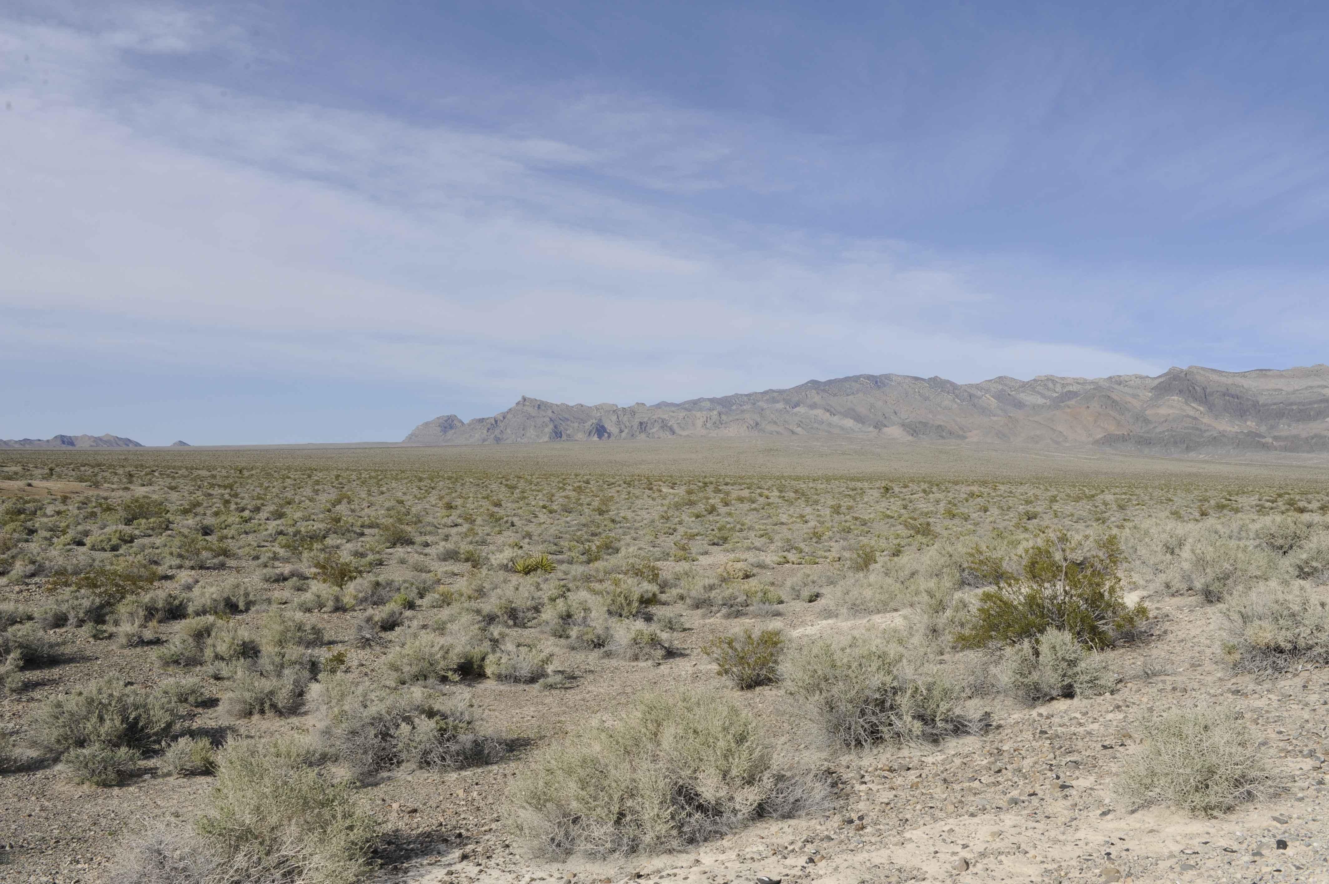 File:A scenic view of the desert landscape on the desert ...