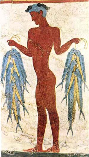 Akrotiri Young Fisherman fresco
