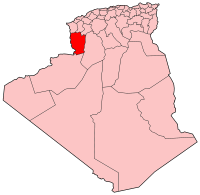 Map of Algeria showing Naama province