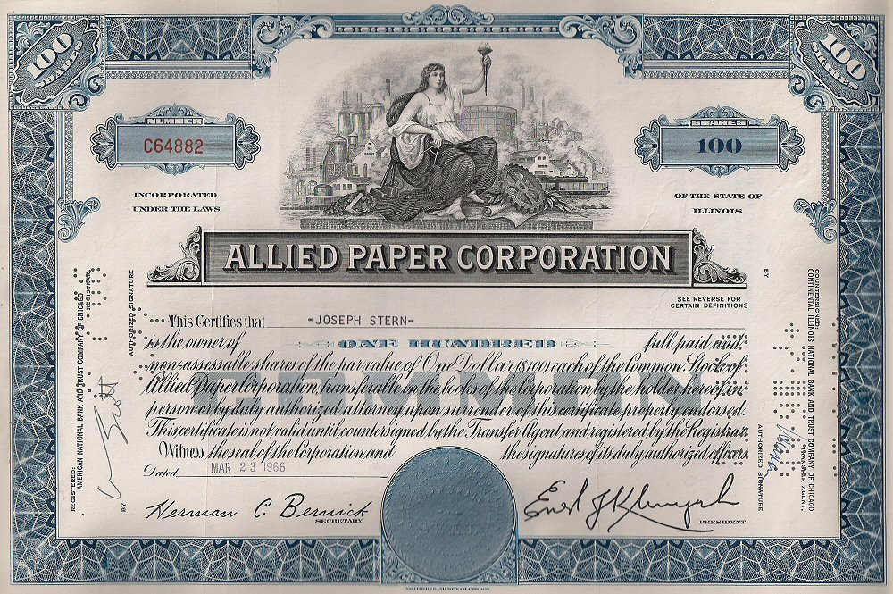 Share Certificate Paper – Example of Share Certificate