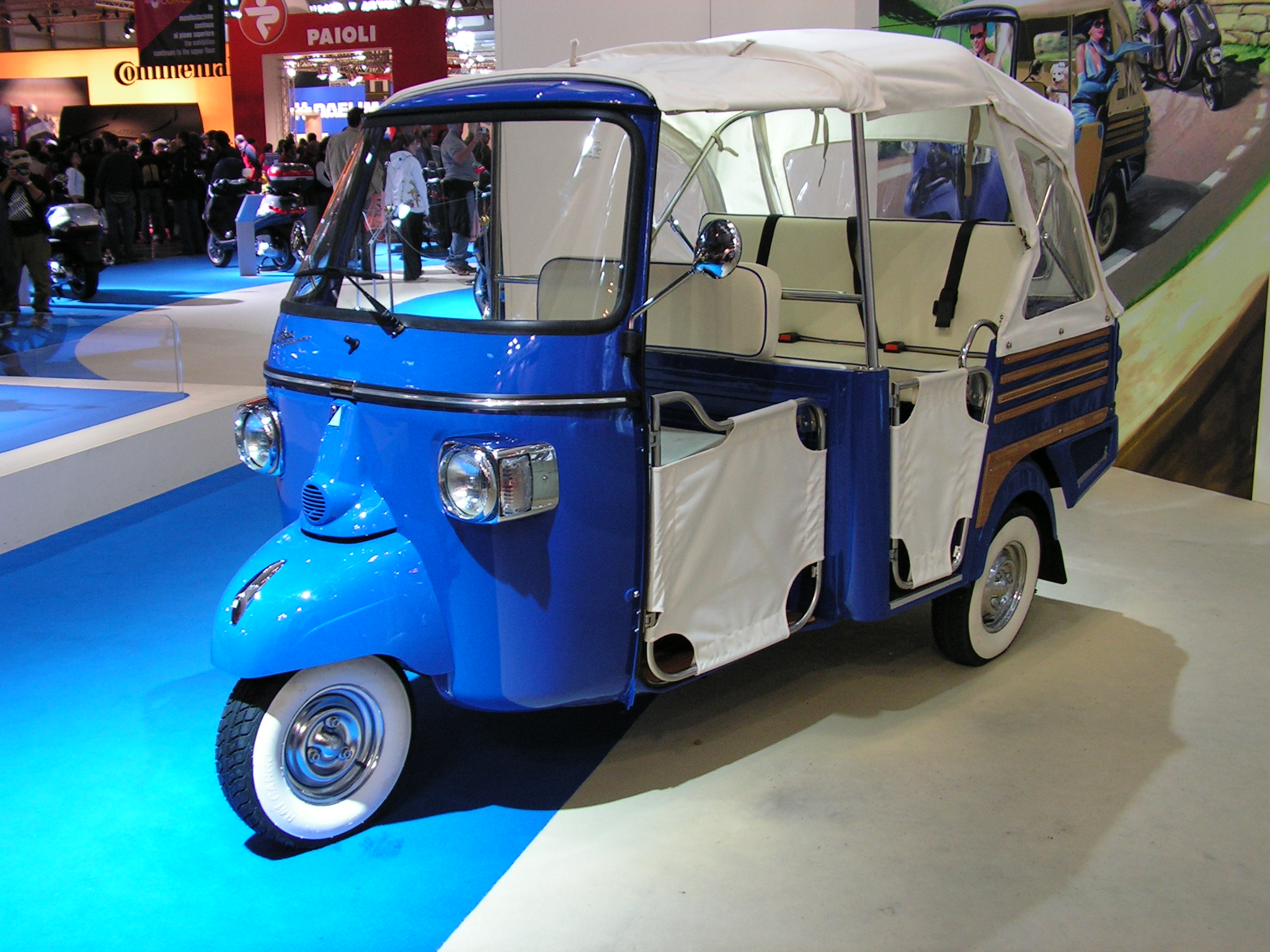 let your top down with the piaggio ape calessino | ape | pinterest