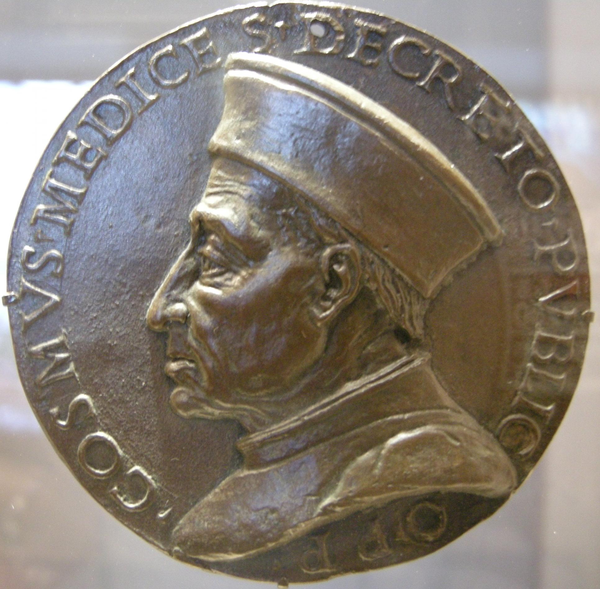File:Artista fiorentino, cosimo de' medici pater patriae, 1465-69,