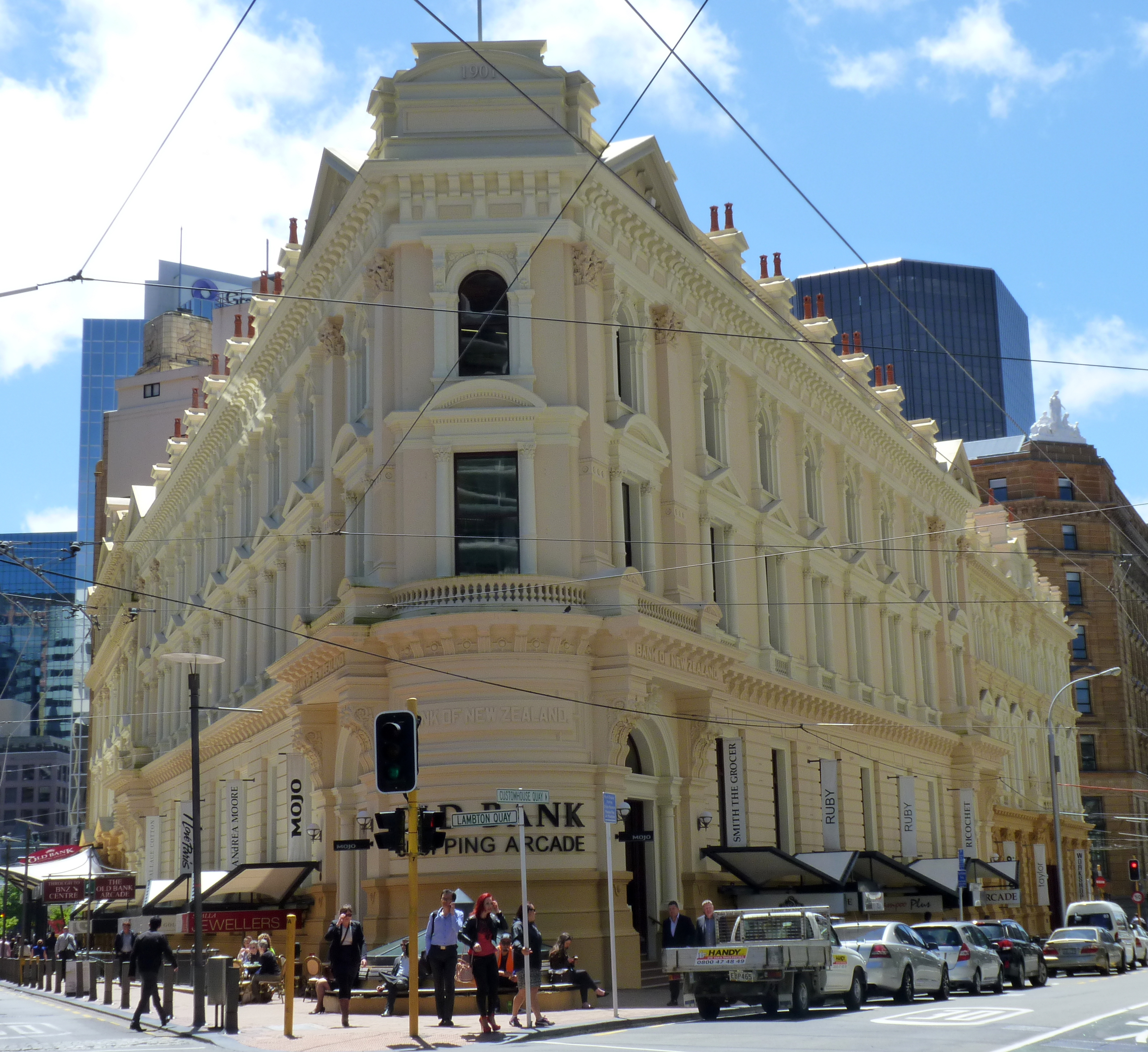 File Bank Of New Zealand Building No 1 Wellington New