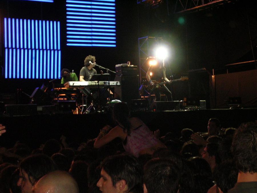 """Calamaro durante la gira """"Dos Rodríguez"""" de Buenos Aires, en 2006."""