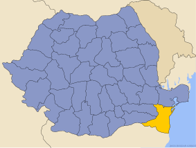 Administrative map of Руминия with Константса county highlighted